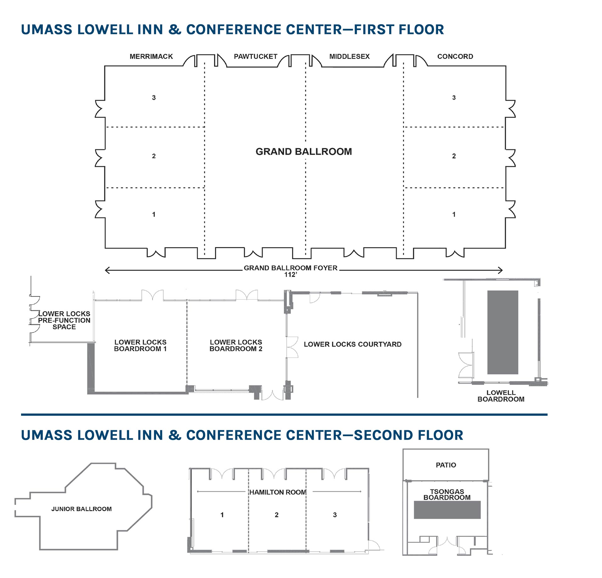 UMASS Lowell Inn and Conference Center Floor Plan